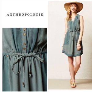 Anthropologie Maeve Sage green mini dress